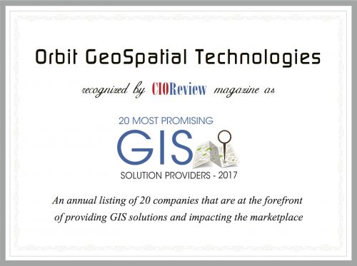 Orbit GT Orbit GT selected as one of 20 most promising geospatial companies