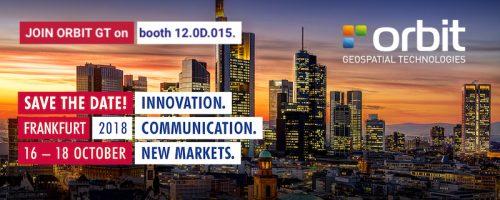 Orbit GT Orbit GT to exhibit and showcase new releases at INTERGEO, Frankfurt