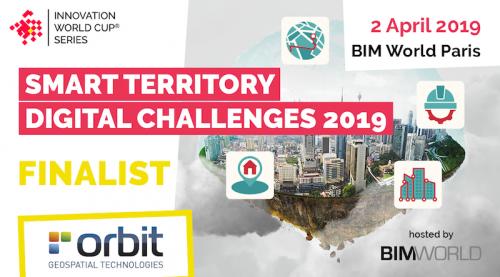 Orbit GT Orbit GT selected in Top 5 for Smart Territories award at BIM World, Paris