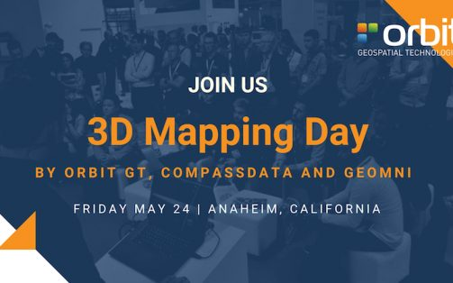 Free training on Orbit GT's 3D Mapping Day next to SPAR3D, Anaheim, CA