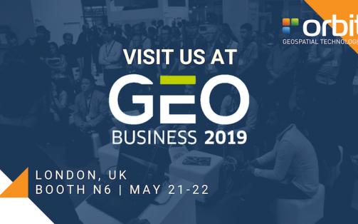 Orbit GT to exhibit and present at GeoBusiness, London, UK