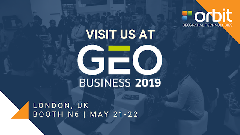 Orbit GT Orbit GT to exhibit and present at GeoBusiness, London, UK