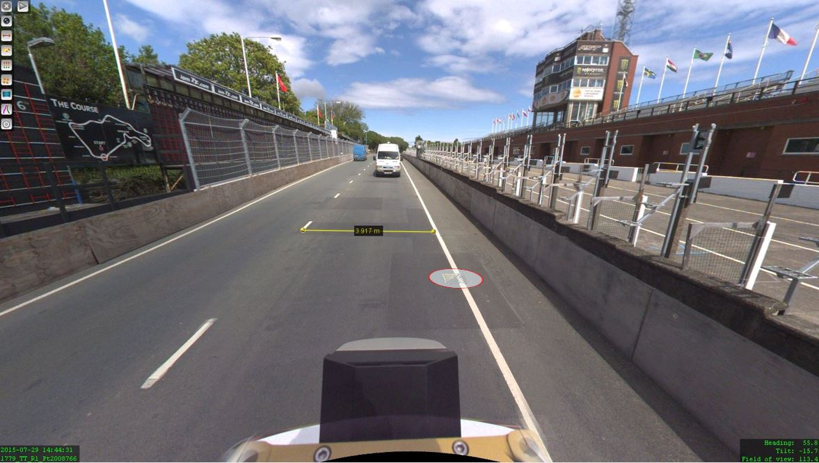 Orbit GT The Isle of Man: TT race mobile mapped for highway asset management and gaming
