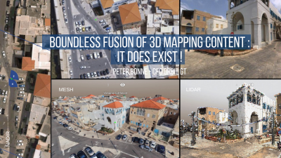 Boundless Fusion of 3D Mapping Content : It does exist !