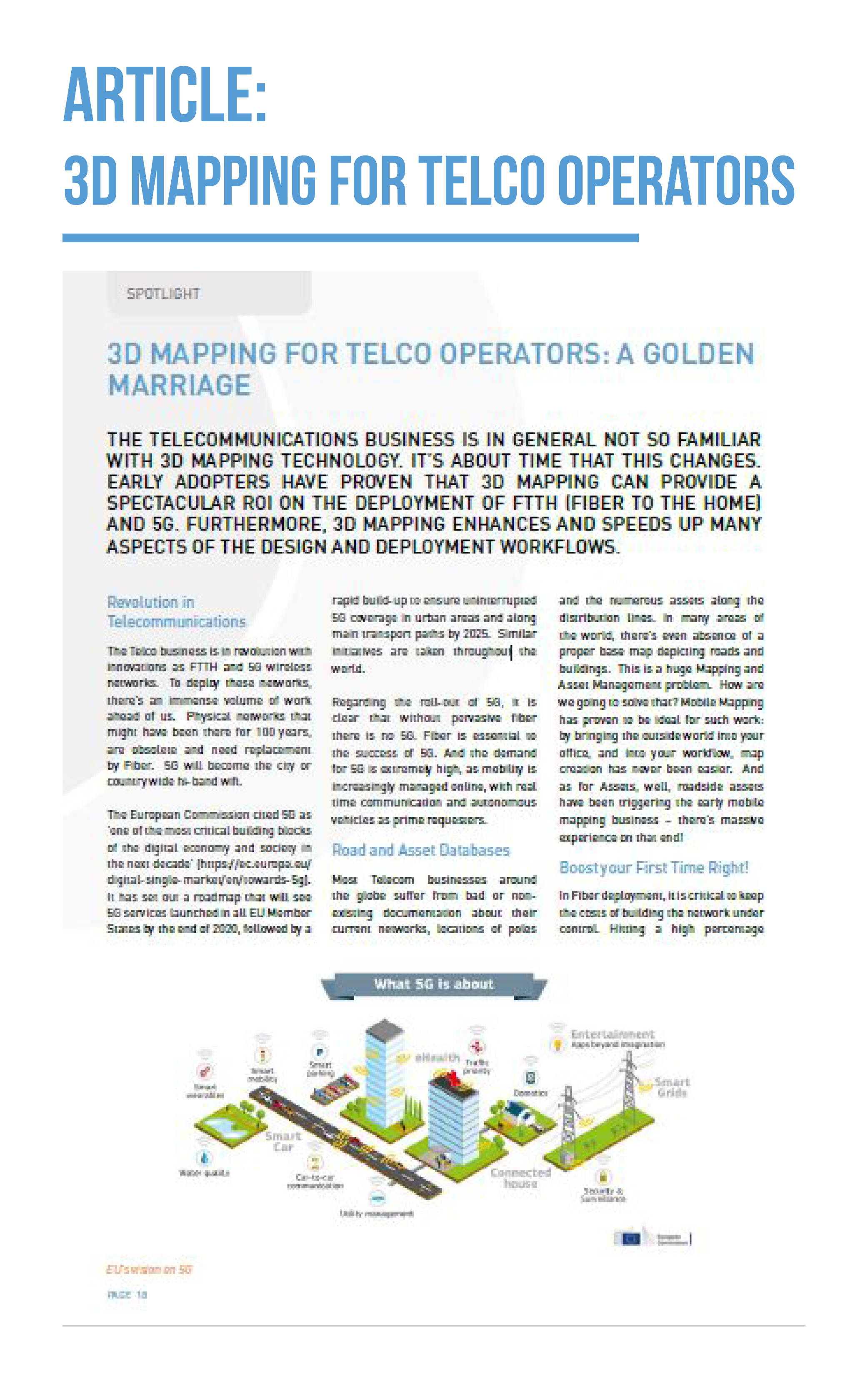 Orbit GT 3D Mapping for Telco Operators: a golden marriage